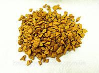 Декоративный цветной щебень (крошка, гравий) , синий (02) Желтый