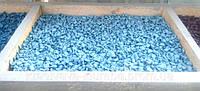 Декоративный цветной щебень (крошка, гравий) , синий (02) Светло голубой