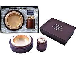 Подарунковий набір MINGHU 2в1 попільничка і запальничка
