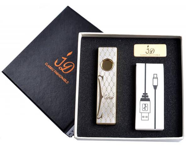 Зажигалка подарочная Cartier (спираль накаливания, USB) №4756, фото 2