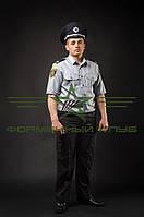 Форменная рубашка для полиции, короткий рукав, шведка (серая)