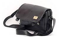 Чоловіча сумка поліпшеної якості, Three Box. Чорна