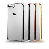 Накладка Vpower iPhone 7 Luxury Plating Frame Soft TPU Rose Gold de4500ea99b64