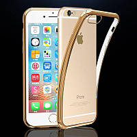 Накладка Vpower For Apple iPhone 7 Luxury Plating Frame Soft TPU Silicone Clear Gold