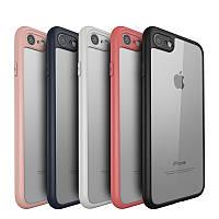 Накладка Vpower For iPhone 7 Case Cover Vpower Luxury TPU+PC Hybrid White