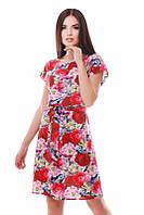 Летний женский сарафан с цветочным принтом Light FashionUp 42-48  размеры