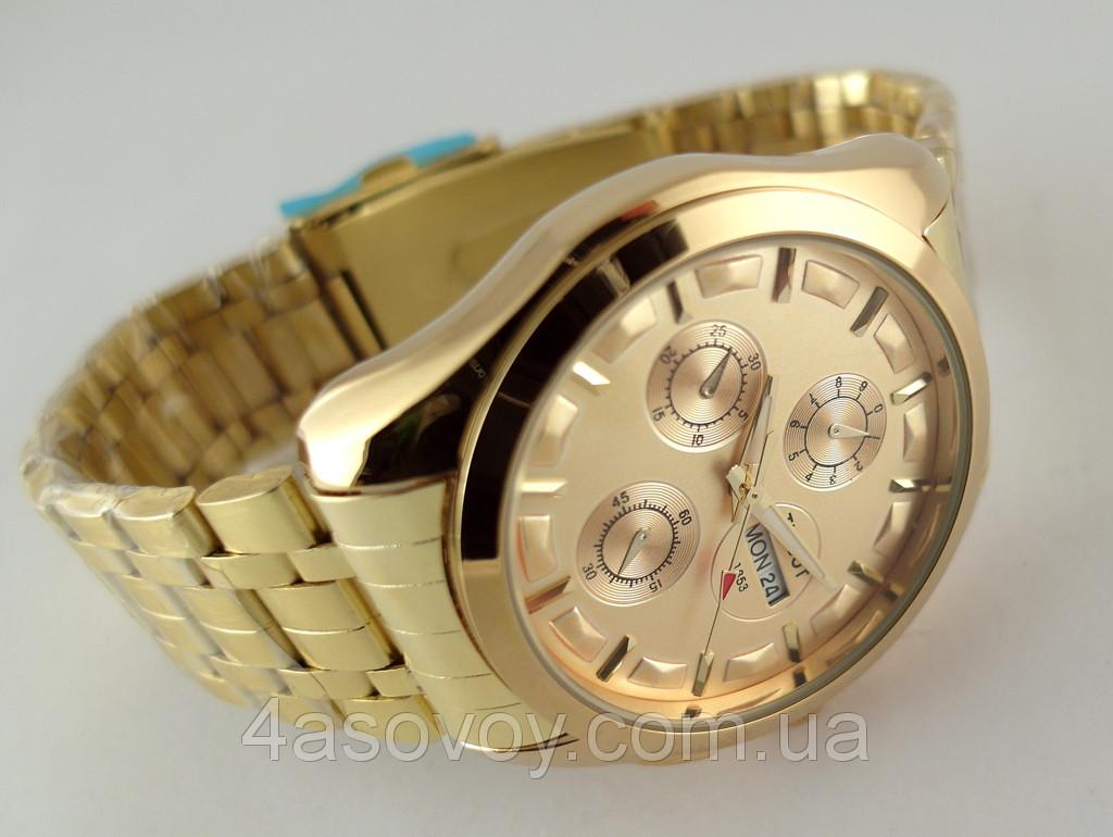 Часы тиссот мужские золотые