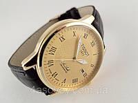 Мужские часы  TISSOT 1853 Le Lode кварцевые, цвет корпуса золотистый, циферблат желтый, фото 1