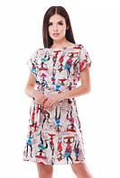 Летний женский сарафан с принтом Light FashionUp 42-48  размеры