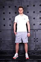 Мужской комплект футболка и шорты Nike, белый