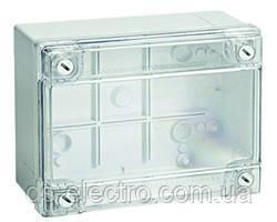 Коробки ответвительные с гладкими стенками и низкой прозрачной крышкой, IP56, 190х140х70 мм, DKC, 54120