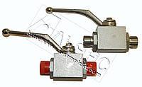 Кран шаровый двухходовой гидравлический гайка 24 (М20*1,5)