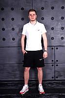 Летний костюм Nike, Белая футболка и черные шорты, мужской