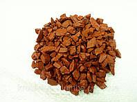 Декоративный цветной щебень (крошка, гравий) , белый (06) Оранжевый
