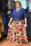Нарядное платье в яблоки с гипюром