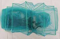 Раколовка (Гармошка) из лески оснащенная с грузами 2.5м, 3м