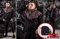 Мужская Ветровка Windrunner Nike - коричневый - Размер S. M. L. XL.