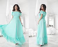 Платье  крепшифон, подкладка трикотаж. Цвета: белый, темно синий, кораловый, ментоловый, лимонный па№1056.
