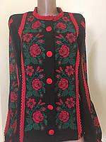 Вишита жіноча блуза чорного кольору дизайнерська робота 71f0412612770
