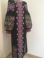 Сукня жіноча чорна вишита хрестиком дизайнерська робота