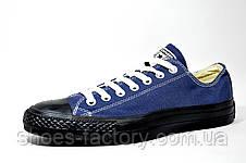 Кеды в стиле Converse мужские, Blue\Black, фото 2