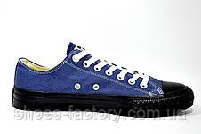 Кеды в стиле Converse мужские, Blue\Black, фото 3