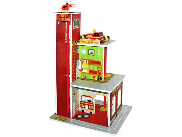 деревянная пожарная станция Fire Station Aga4kids W06a144