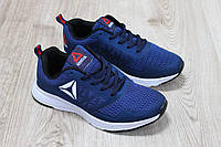 Женские кроссовки Reebok для бега материал:текстиль+сетка Вьетнам размеры 36-41 синие