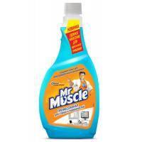 Моющая жидкость для уборки Мистер Мускул для стекол Голубой сменный блок 500 мл (4823002001020)