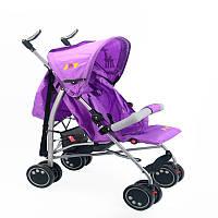 Коляска для ребенка фиолетовая