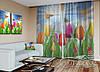 """ФотоТюль """"Тюльпаны с бабочками"""" (2,5м*6,0м, на длину карниза 4,0м)"""