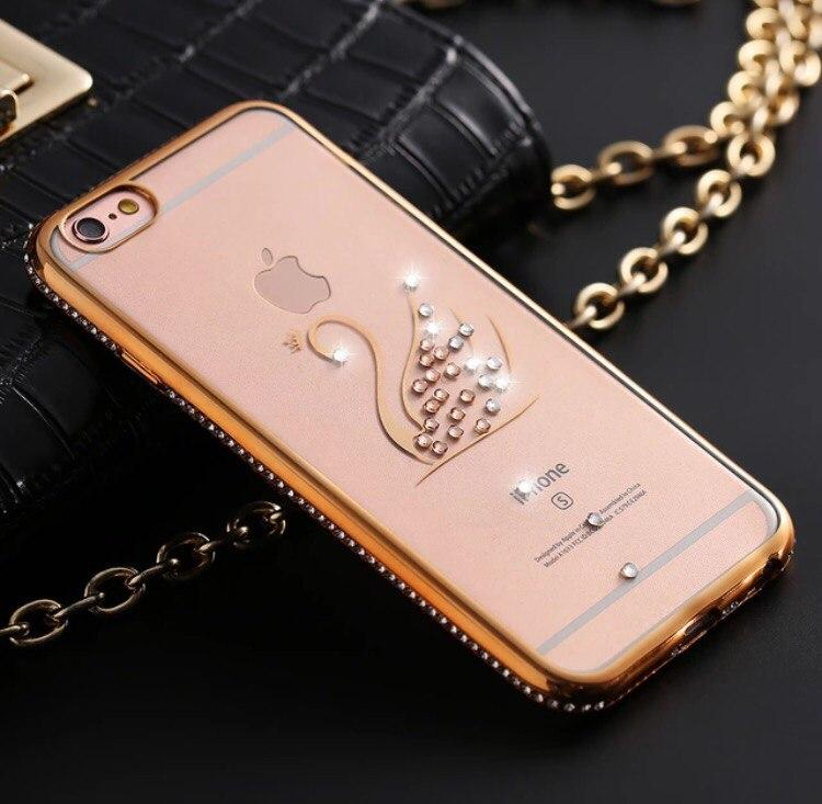Зеркальный чехол Лебедь силиконовый для Iphone 6 6S