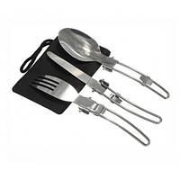 Походный набор ,ложка /вилка /нож +чехол