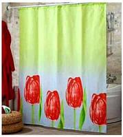 Шторка для ванной и душа 180х200 Тюльпаны