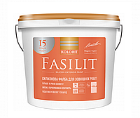 """Краска  силиконизированная KOLORIT FASILIT фасадная, база """"LA""""-белая, 4,5л"""