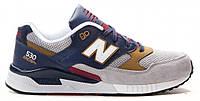 Мужские кроссовки New Balance 530 Нью Баланс серые/синие