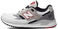 Мужские кроссовки New Balance 530 Нью Баланс белые/серые