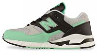 Мужские кроссовки New Balance 530 Grey/Green Нью Баланс серые/зеленые
