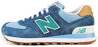 Мужские кроссовки New Balance 574 Нью Баланс синие