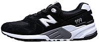 Мужские кроссовки New Balance 999 Black Нью Баланс черные