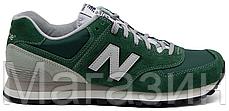 Мужские кроссовки New Balance 574 Нью Баланс 574 зеленые, фото 3