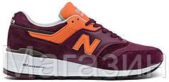 Мужские кроссовки New Balance 997 Нью Баланс бордовые