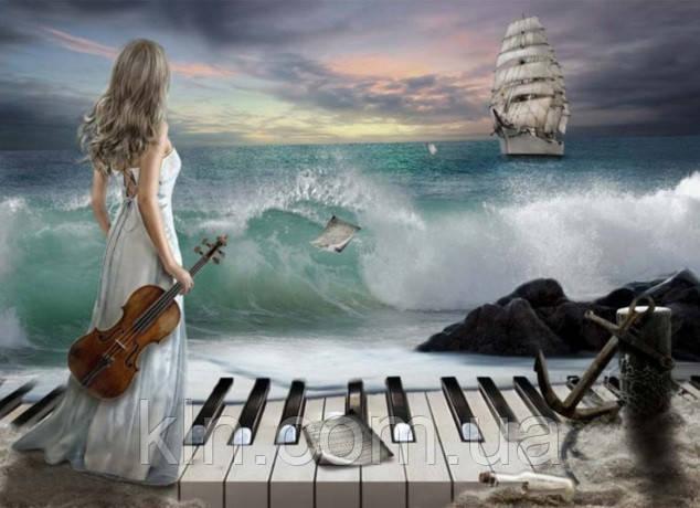 Алмазная вышивка Музыка океана 55 х 40 см (арт. FR520)