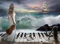 Алмазная вышивка Музыка океана 55 х 40 см (арт. FR520) , фото 1