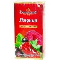 Чай Домашний Ягодный (черный с лесными ягодами) 20пакетов по 1.5г