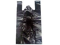 Пакет майка черная Кривой Рог (30+2x8x54) (уп.100шт)