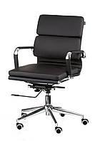 Кресло Solano 3 artleather black, черное, офисное, компьютерное