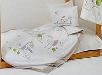 Детское постельное белье  9 предметов KARACA HOME  HAPPY DAYS с защитой и одеялом