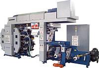ФДР-420/8 -флексографическая  узкорулонная 8-ми красочная  машина с центральным печатным цилиндром