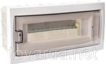 Купить бокс 12-местный скрытой установки с дверцей для установки автоматических выключателей и т.п. с номинальным током не более 40 А, при температуре окружающей среды от -5 ºС до +40 ºС. Для размещения 12-ти и менее электроаппаратов.